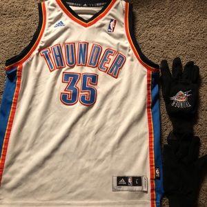 Oklahoma Thunder Jersey, caps & gloves-L